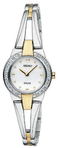 Seiko Women's SUP052 Two Tone Stainless Steel Analog with White Dial Watch