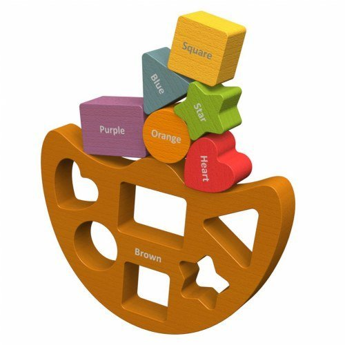 BeginAgain Balance Boat Shapes and Colors - Stacking Toys and Balance Game for Babies and Toddlers - Balancing Toys for Learning AND Fun!