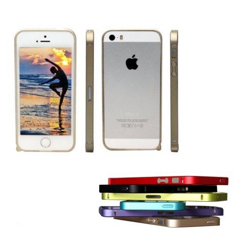 Boriyuan Hot Selling Luxury Ultra Thin Metal Aluminium Alloy Bumper Frame Case For Iphone 5 5S Golden