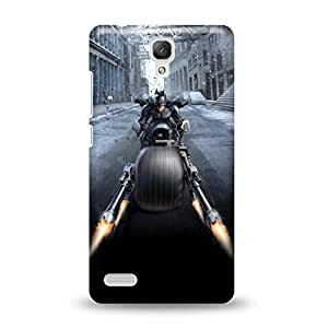 Warner Bros Dark Knight-Batman Batpod Back Cover for Xiaomi Redmi Note 4G (Multicolor)