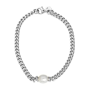 Joy Jewels Damen-Armband 925 Sterling Silber mit Perle weiss 18cm JA154B