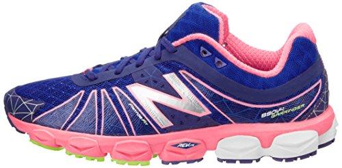 888098239928 - New Balance Women's W890 Neutral Light Running Shoe,Blue/Pink,12 B US carousel main 4