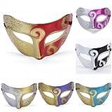 Bheema Alta calidad Príncipe Máscara Máscara de Carnaval Masquerade partido de la bola de los hombres de Halloween - Purple