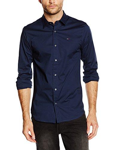 hilfiger-denim-original-stretch-shirt-camisa-para-hombre-azul-black-iris-talla-l