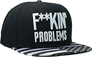 Letter Black Fuckin Problems Snapback Cap Hat for Men and Women Baseball Cap
