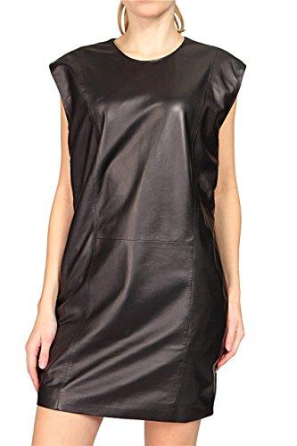 BLK DNM Damen Kleid Lederkleid , Farbe: Schwarz, Größe: XXS