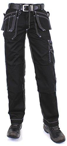 EDWIN-Herren-Arbeitshose-Bundhose-mit-Kniepolstertaschen-52-Schwarz