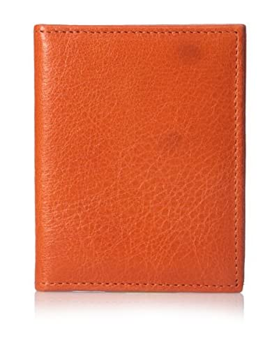 Graphic Image Women's Leather Card Case, Orange