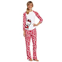 Hello Kitty Juniors What's My Name Pajama Set, Red/White, Medium