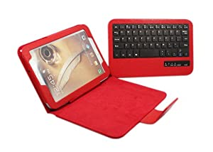 FOME® Detachable Bluetooth Keyboard PU Leather Protective Case Tablet with Stand for Samsung Galaxy Note8.0 N5100 N5110 (Red)