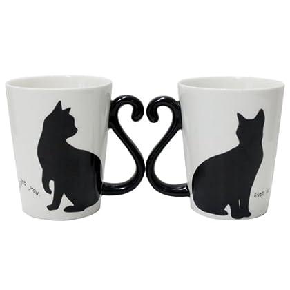マグカップ ペア カップ 猫 ネコ マグカップル 黒猫/シンプル AR0604085