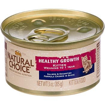 Natural Choice Healthy Growth Kitten Salmon And Oceanfish Formula Chunks In Sauce Kitten Food Cans, 3-Ounce