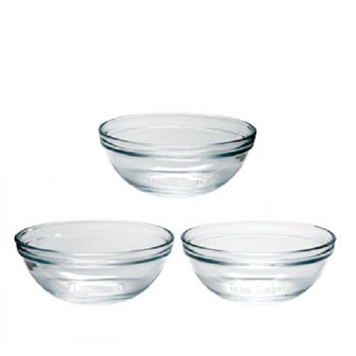 3 Pack Small Prep Mixing Bowls, 4-inch Ddiameter (Glass Prep Bowls Small compare prices)