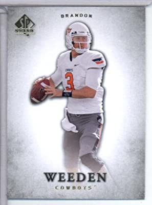2012 Upper Deck SP Authentic # 16 Brandon Weeden RC - Oklahoma State Cowboys / Cleveland Browns (RC - Rookie Card) NFL Football Trading Card