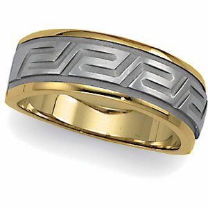 Genuine IceCarats Designer Jewelry Gift 14K White/Yellow Gold Wedding Band Ring Ring. Size 07 Two Tone Bridal Tapered Duo In 14K White/Yellowgold Size 7