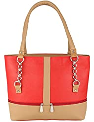 Shankey Collection Red & Brown PU Women Hand Bag
