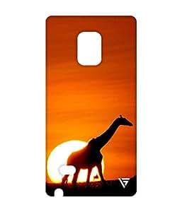 Vogueshell Giraffe Printed Symmetry PRO Series Hard Back Case for Samsung Galaxy Note 4
