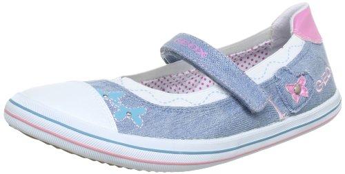 Geox J KIWI GIRL B Ballet Flats Girls blue Blau (JEANS/PINK C4341) Size: 39