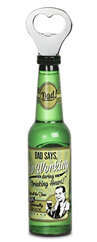 Pavilion Gift Company 22099 Dad Magnetic Bottle Opener, 8-1/4-Inch, Beer All The Time front-326878