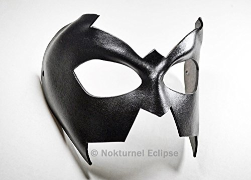 Nightwing Black Leather Mask Batgirl Halloween Costume Unisex