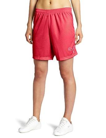 Puma Apparel Women's Soccer Mesh Short, Beetroot Purple, Large