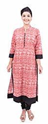 Krivi By Kk Women's Cotton Kurti (KRV-07-D_Red_XL)