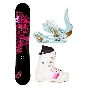Buy Joyride Text Pink Ladies Complete Snowboard Package by Joy Ride