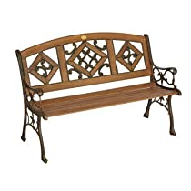 Florence Wood Inlay Bench
