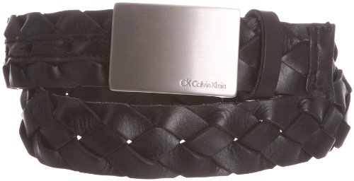 Calvin Klein Belt W/Cut Edge Braid Leather Men's Belt