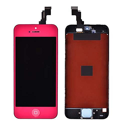 Group Vertical ® Hot Pink Lcd Touch Screen Digitizer Replacement Assembly For Iphone 5C W Home Button
