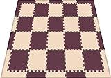 リトルプリンセス(Little Princess) 抗菌フロアーマット ツートンカラー スモールパッケージ ベージュ&ブラウン (正方形マット20枚、エッジマット10枚、コーナーマット8枚)