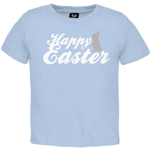 Old Glory - Happy Easter Bunny Toddler T-Shirt - 2T Light Blue front-1041180