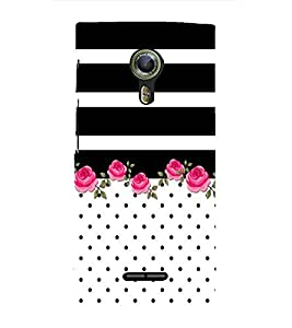 Abstract Floral Painting Cute Fashion 3D Hard Polycarbonate Designer Back Case Cover for Alcatel Flash 2 :: Alcatel Onetouch Flash 2