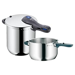 WMF Perfect Plus 8-1/2-Quart and 4-1/2-Quart Stainless Steel Pressure Cookers with Interchangeable Locking Lid at Sears.com