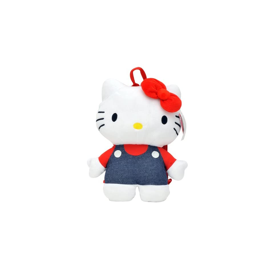 Sanrio Hello Kitty Classic Plush Hello Kitty with Jeans Backpack