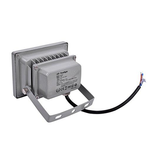 5 X LianLe 10W IP65 étanche LED Projecteur, Energy Saving Lampe LED, Intérieur / Extérieur, Blanc Froid (6000-6500K)