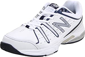 New Balance Men's MC656 Tennis Shoe,White/Navy,11 4E US