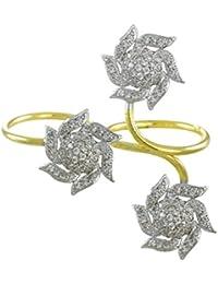 Zaveri Pearls Designer Cubic Zirconia Dual Finger Ring For Women - ZPFK5787