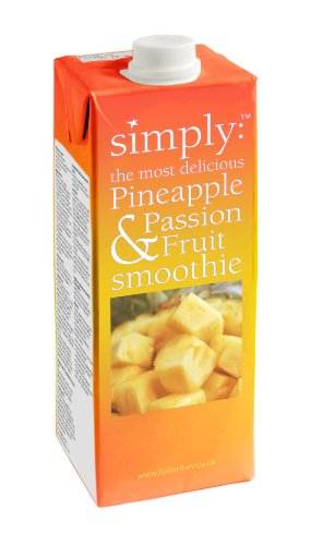 Simply Pineapple and Passion Fruit Smoothie 1 L (Pack of 2)