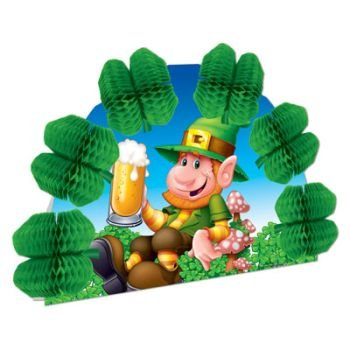 Beistle 30653 Leprechaun Pop-Over Centerpiece, 10-Inch