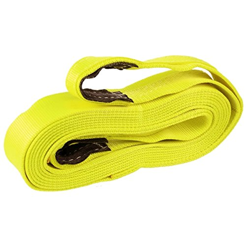 Best Price! 3 x 20' Nylon Recovery Strap / Tow Strap with Cordura Eyes, Made in USA