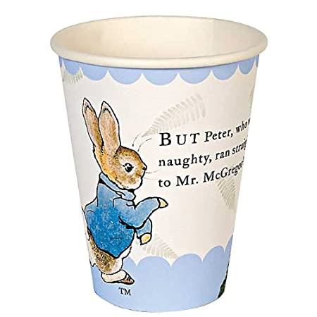 """But Peter, who was very naughty, ran straight away to Mr McGregors garden."" These lovely lines from the classic Peter Rabbit story together with Beatrix Potter's illustrations make such great decorations for a child's party."