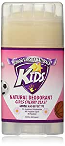 Junior Varsity Naturals Girls Cherry Blast Kids Deodorant 2.25 Oz.(64 Grams)