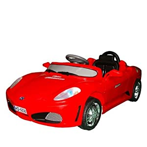 Kids Ride On Car Ferrari Style Electric Battery Powered with MP3 Input Speaker Remote Control Red