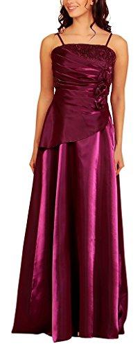 Womens Elegant Pleated Wrap Evening Dress Flowers Tapework Taffeta Formal Ball Gowns Dresses Ladies Dark Purple Size 14