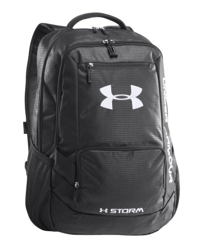 Under Armour Ua Hustle Storm Backpack One Size Fits All Black front-1003448