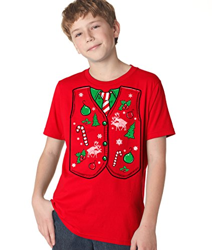 Youth Ugly Christmas Vest T Shirt