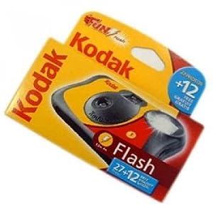 Kodak FUNFLASH/39 Disposable Camera with Flash 27+12 Exposures