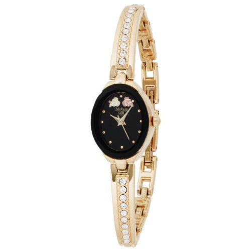 Elgin Women's BHGL13 Black Hills Gold-Tone Half Bangle Open Crystal Watch