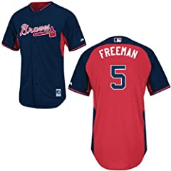 Freddie Freeman Atlanta Braves Navy Batting Practice Jersey by Majestic by Majestic